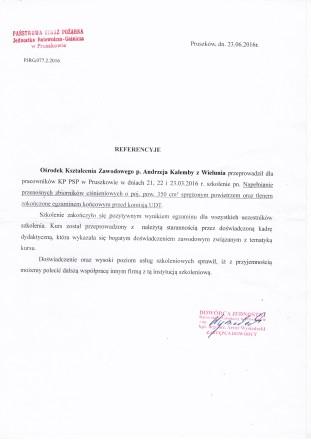 Referencje PSP Pruszków